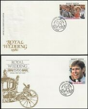 ST LUCIA 1986 ROYAL WEDDING SET 4 FDC's (ID:679/D7709)