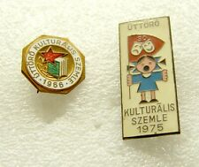 t152 Hungary pioneer CULTURAL REVIEW 1966 & 1975 Communist BADGE lot