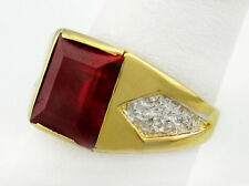 RUBY 2.33 Carats MEN'S RING 14k GOLD* FREE Shipping & FREE Re-Sizing ** NWT