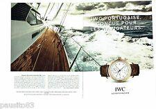 PUBLICITE ADVERTISING 106  2014  IWC Schaufhausen (2p) montre Portugaise chrono