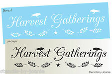 Lg Stencil Harvest Gatherings Primitive Crow Willow Wheat Star Country Signs