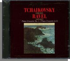 Tchaikovsky & Ravel - 2 Piano Concertos - New 1988 Classical Music CD!