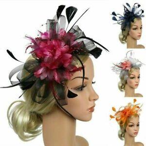 Feather Hair Fascinator on Headband Wedding Dance Party Royal Ascot Race Bespoke