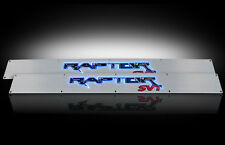 2009-2014 F150 SVT Raptor Brushed Billet Door Sill Plates - Blue Illumination