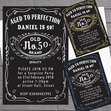 50 x Mens Birthday Party Invitations 30th 40th 50th 60th 70th 80th Aged