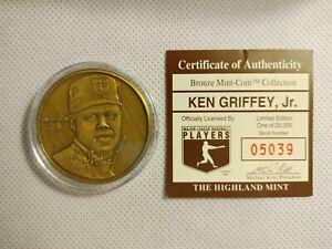 Ken Griffey Jr. Highland Mint Bronze Medallion #5039 Baseball Coin Mariners Reds
