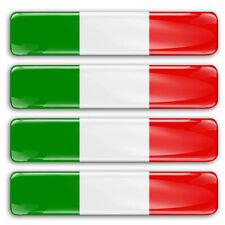 Adesivi Resinati Sicker 3D BANDIERA ITALIA tricolore 4 pz. cm 6x1,1 auto moto