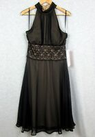 Connected Womens Formal Fashion Ladies Dress Black Size 12 NEW