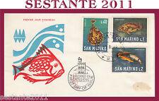 SAN MARINO FDC VENETIA 95 - 3  SM  FAUNA MARINA 1966 (183) PICCOLA MACCHIA