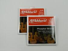 EJ39 D'Addario 12 String GUITAR STRINGS Med. (2 Sets) ~Free Shiping to U.S.A.~