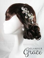 Zoe vintage wedding bridal comb tiara earrings headpiece hair piece accessory