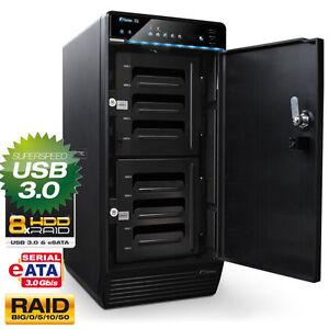 24TB (8x 3000GB) FANTEC QB-X8US3R EXTERNE FESTPLATTE SPEICHER  RAID USB3.0 eSATA