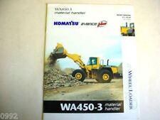 Komatsu Wa450-3 Material Handler Wheel Loader Brochure