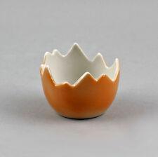 Porcelaine Coquetier Coquille d'oeuf orange Wagner & Apel H4cm 9942431