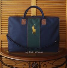 NEW POLO RALPH LAUREN BIG LOGO NAVY & GREEN CASUAL DUFFLE WEEKEND TRAVEL GYM BAG