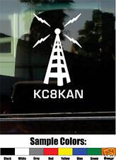 HAM AMATEUR RADIO CALL SIGN VINYL DECAL/STICKER retro