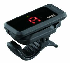 Korg PC-1 Pitchclip Cromático Clip-On Guitar Tuner Negro-Incluye Batería.
