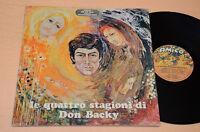 DON BACKY LP 4 STAGIONI+TAVOLE 1°ST ORIG EX ! LAMINATED GATEFOLD COVER+TAVOLE !!