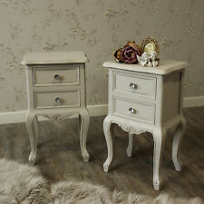 Furniture bundle 2 Drawer Bedside Table French Grey Bedroom Crystal Handle Knobs