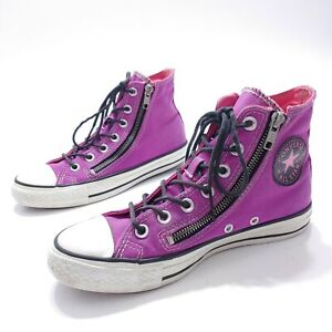 Converse All Star Double Zip Unisex Purple 140191C High Top Shoes Women 7 Men 5