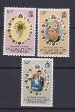 1981 Royal Wedding Charles & Diana MNH Stamp Set Falkland Island Depen SG 95-97