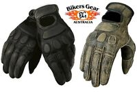 AUSTRALIAN BIKERS GEAR MOTORCYCLE MOTORBIKE SPORTS TOURING LEATHER GLOVES