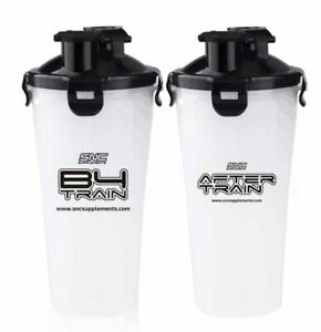 SNC Supplements - B4 Train Dual Compartment Shaker, 2 in 1 Bottle