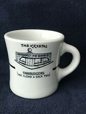 VINTAGE THE KRYSTAL HAMBURGER RESTAURANT SHENANGO U.S.A. CHINA COFFEE MUG/CUP