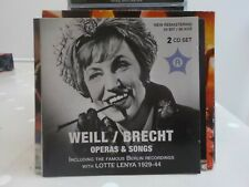 LOTTE LENYA KURT WEILL BRECHT OPERAS & SONGS 2011 CD OTTO LEMPERER