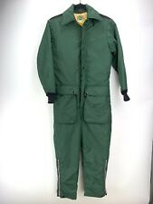 Vtg Ideal Coveralls Snow Suit Sz S Green Yellow Lining Jump Suit
