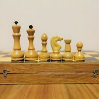 Fastship Classic soviet chess set Wooden Russian Vintage USSR antique