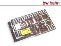 Kibri H0 Bausatz 4100-09 Ausstattung Gebäude Fensterläden Kamine Pfeiler Neu