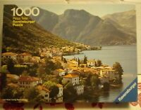 Ravensburger 1000 pce Jigsaw Puzzle Lake Como Italy COMPLETE Rare Vintage Otto