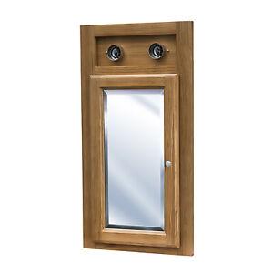 Oak Corner Bathroom Medicine Cabinet Only