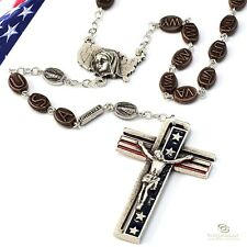 Ghirelli ROSARY Silver Plate USA State Beads  Blessed Mother US Centerpiece