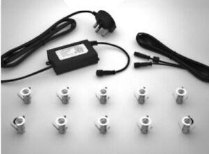 10x 18mm Warm White LED RECESSED LIGHTING KIT - SD001WW - Seal Designs