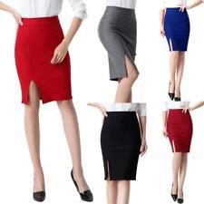Women Bodycon Formal OL Mini Skirt Pencil Skirt Short Stretch High Waist JJ