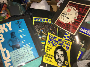 vintage 228 IPSWICH Soccer football programs 1960's - 1970's collection