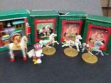 Hallmark Christmas ornament lot of 6 Keepsake Carousel Snoopy Locomotive
