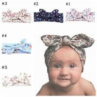 Infant Rabbit Ear Baby Turban Flower Hair Band Headwear BowKnot Headband