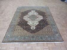 7'10 x 9'9 Hand Knotted Chocolate Brown Antiqued Bakshaish Oriental Rug G6254