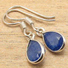 925 Silver Overlay Simulated SAPPHIRE Indian Jewellery Wholesale EARRINGS