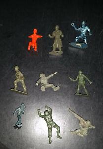 Set of 9 Vintage 1950s Plastic Toy Soldiers 6 WWII 3 Civil War