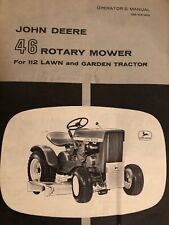 John Deere 46 Rotary mower for 112 Tractor operators manual item 67