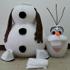 Frozen Olaf Snowman Mascot Costume Adult Size Free Shipping