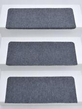 15er Set Stufenmatten Treppenmatten ANDES Grau RECHTECKIG ca. 65x24x4 cm