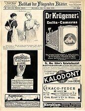 Dr.Krügener Delta-Cameras Gnom Taschen-Hängematte Verkehrsausschuss Rostock 1907