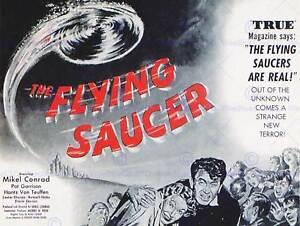 MOVIE FILM FLYING SAUCER SCI FI THRILLER DRAMA UFO ALIEN INVASION PRINT BB6610B