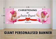 Personalised GIANT Large Girls Christening Baptism Poster Banner N47