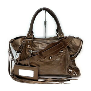 BALENCIAGA Tote Bag The City Browns Leather 2207528